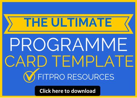 Programme Card Template by Level 2 Instructor Mock Revision Principles