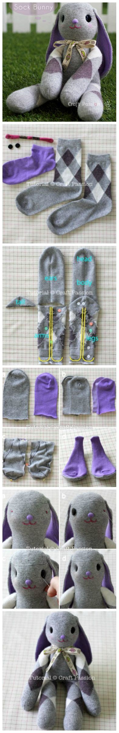 diy adorable sock diy adorable sock bunny sewing sock animals