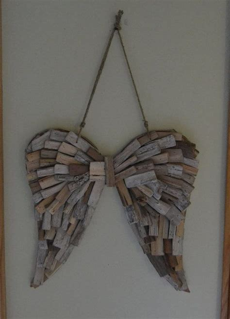 angels home decor driftwood angel wings wedding home decor angel wings