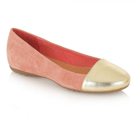 ravel lorna ballet flats pale pink suede gold leather