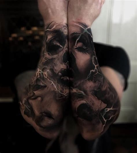 scary tattoos for men amazing forearm of scary for photos and