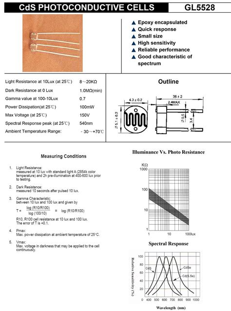 light dependent resistor theory pdf gl5528 photoresistor ldr photo resistors light dependent chiosz robots