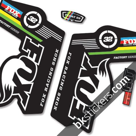 fox motocross forks fox 32 cup stickers kit black forks bkstickers com