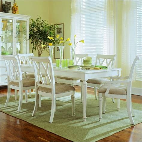 coastal dining room sets american drew camden rectangular casual dining set in antique camden white finis traditional
