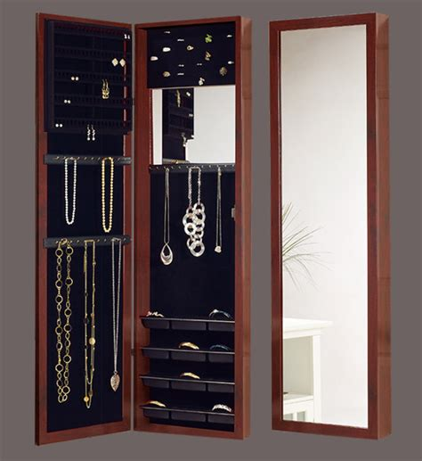 door mirror jewelry armoire over the door mirrored jewelry armoire