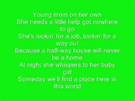 temporary home carrie underwood with lyrics