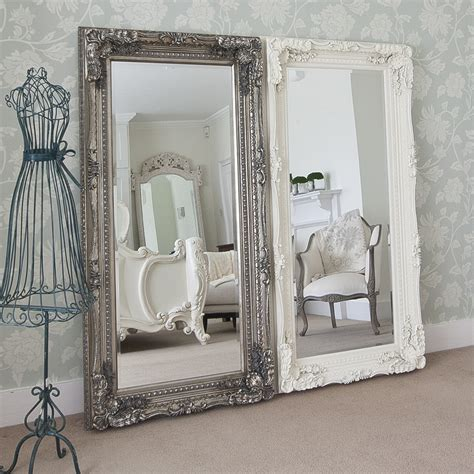 length mirrors grand silver decorative mirror