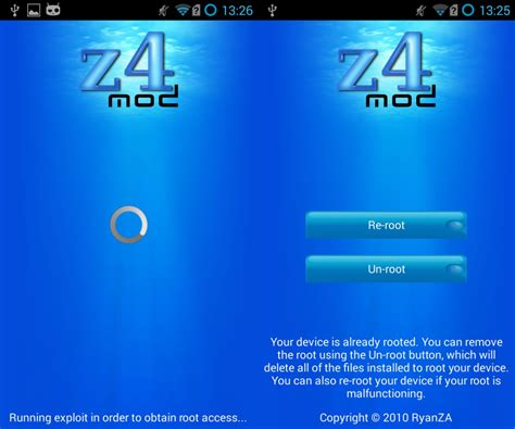 z4 root apk z4root apk free app to root your android