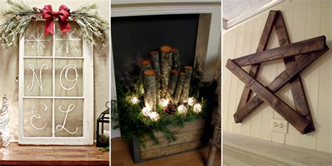 25 diy rustic christmas decorations