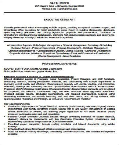 senior executive assistant resumes sles sle senior executive resume 8 exles in pdf