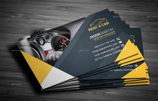 car rental business card rent a car business card by vejakakstudio graphicriver