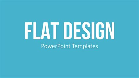 Upgrade Your Presentation With Flat Design Graphics Presentationload Blog Flat Design Powerpoint Template
