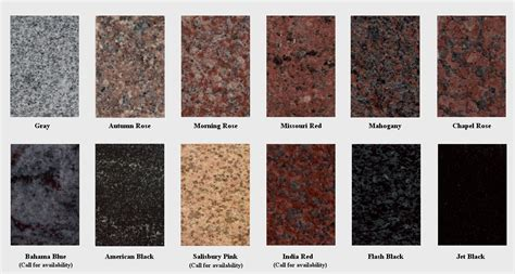 colors of granite muskogee marble and granite