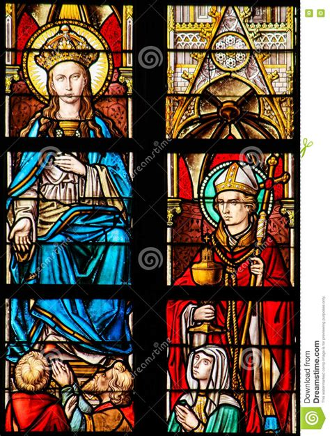 stained glass ls mother mary church window stock image cartoondealer com