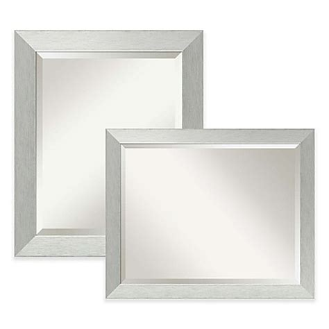 mirrors 2 bathroom scene amanti bathroom mirror in brushed silver bed bath beyond