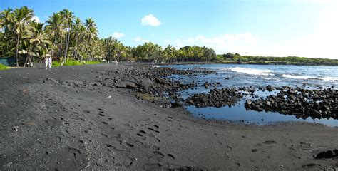picture photo black sand beach at punaluu big island index of wp content uploads 2014 03