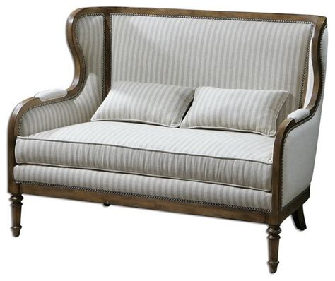 High Back Sofa And Loveseat uttermost 23160 neylan high back loveseat traditional sofas by eager house