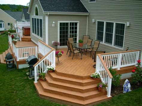 Designer Decks And Patios Decks Porches Walkways Patios United Building Remodeling Painting