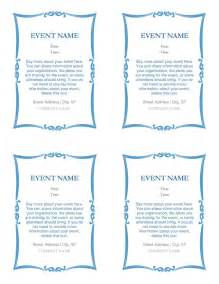 free per invitation templates event invitations 4 per page office templates