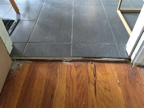 tile to wood floor transition flooring how do i transition from a wood floor to tile