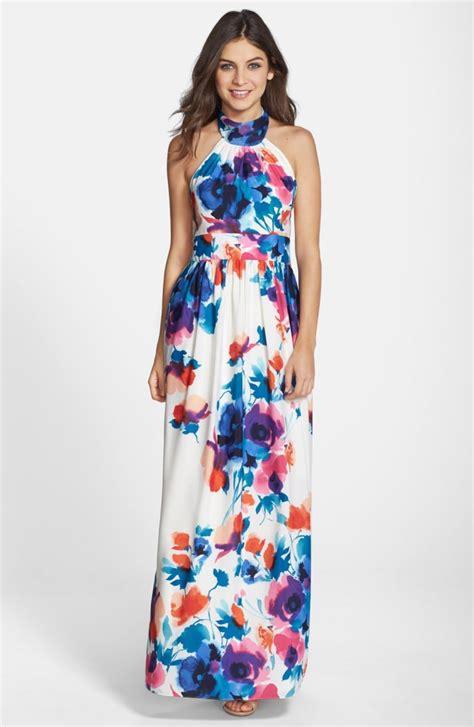 Maxi Flowery eliza j floral print halter maxi dress nordstrom
