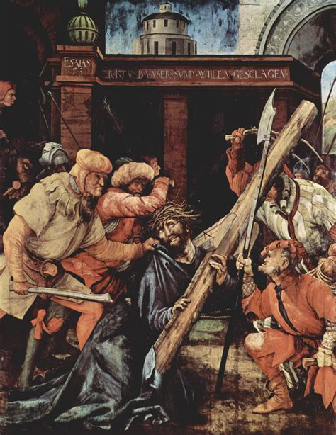 by matthias grunewald the mocking of christ christ carrying the cross 1523 1524 matthias
