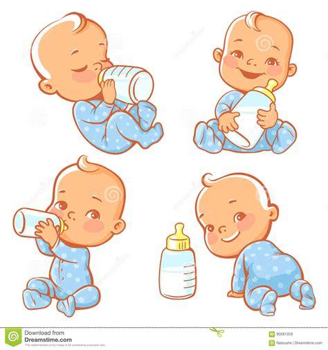 Drink Milk Boy Set B056 baby milk vector illustration cartoondealer 25357566