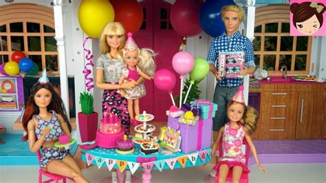 party themes on made in chelsea barbie chelsea birthday party routine in hello dream house