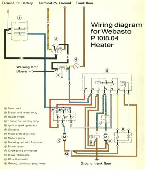 webasto heater wiring diagram wiring diagram and