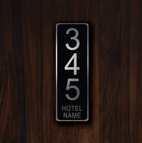hotel room number signs custom hotel room number sign