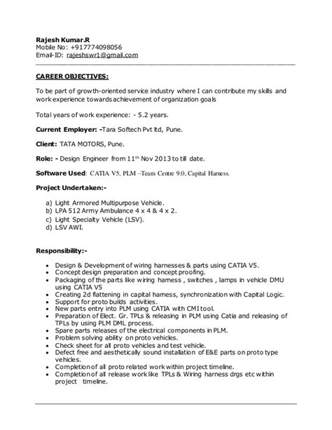 Catia V5 Designer Sle Resume by Mentor Graphics Electrical Wire Harness Electrical Wire Product Elsavadorla