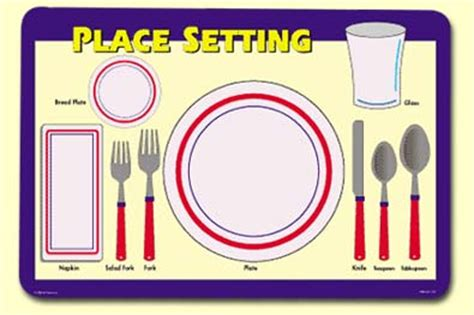 simple place setting painless learning placemats