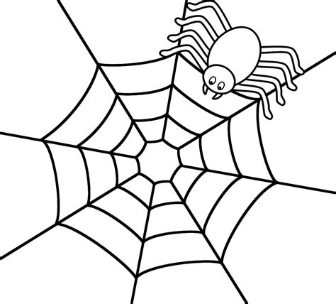 spider web coloring page free spider web coloring pages for kids only coloring pages