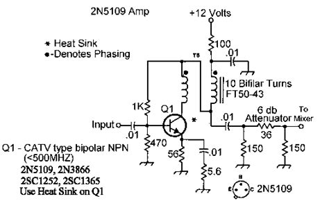 transistor rf lifier circuit rf lifier