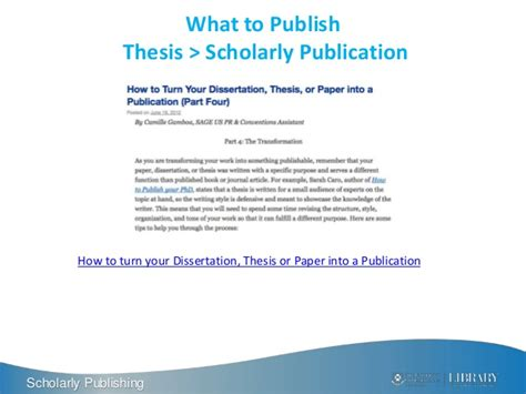 how to publish a dissertation getting published in academic journals tips and tricks 2015