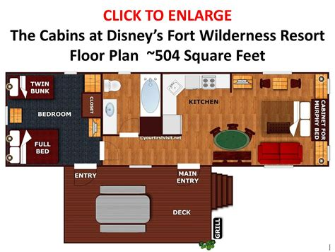 wilderness lodge floor plan sleeping space options and bed types at walt disney world