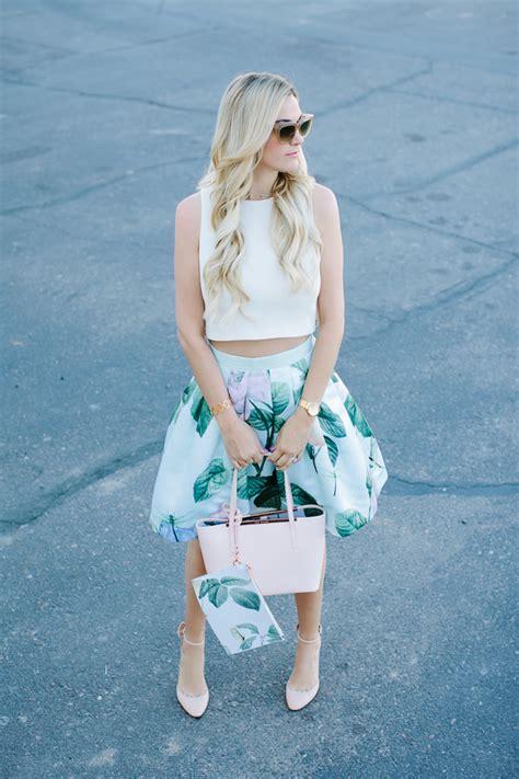 Flower Printed Puffball Skirt For A Summer Garden by Floral Skirt Dash Of
