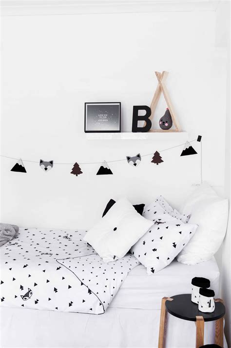 scandi home decor fox and triangle duvet cover scandi home decor