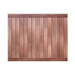 home depot fence panels veranda pro series 6 ft h x 8 ft w walnut vinyl anaheim
