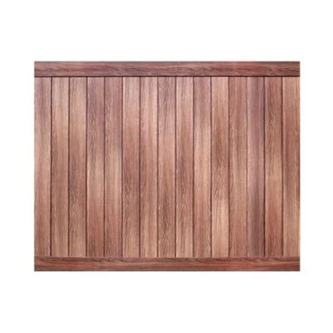 pro series 6 ft x 8 ft vinyl anaheim walnut privacy