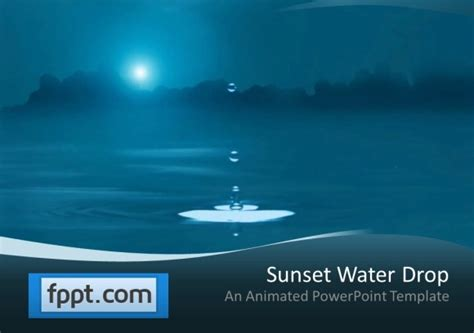 Animated Water Drop Powerpoint Template Moving Templates For Powerpoint Free