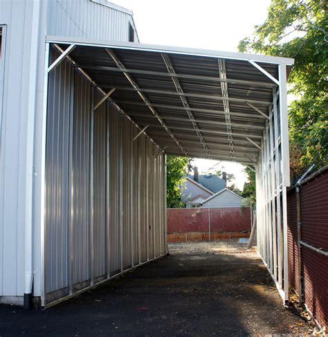 west coast metal buildings lean   carports garages