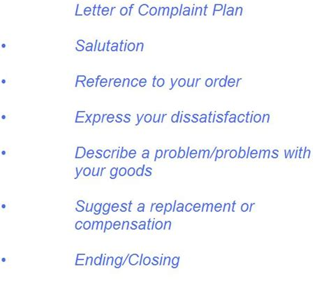 Complaint Letter Lesson Plan Option 3 Write Your Own Letter Of Enquiry