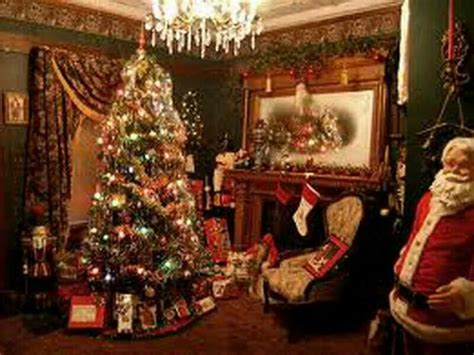 lovely victorian parlor decorated  christmas holiday decor christmas  fashioned