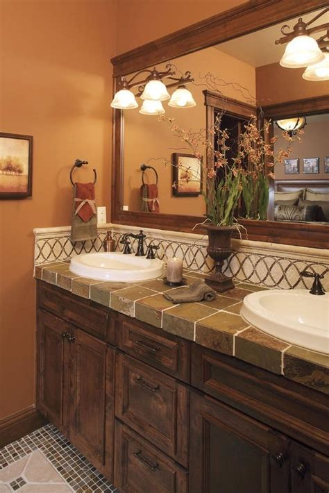 bathroom countertop tile ideas 23 best images about bath countertop ideas on