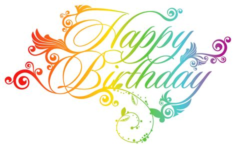 colorful happy birthday png clipart picture birthday