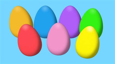 egg colors animated easter eggs for learning colors part i