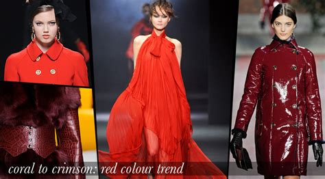 fall 2012 color trends fashionising from coral to crimson red clothing colours for fall