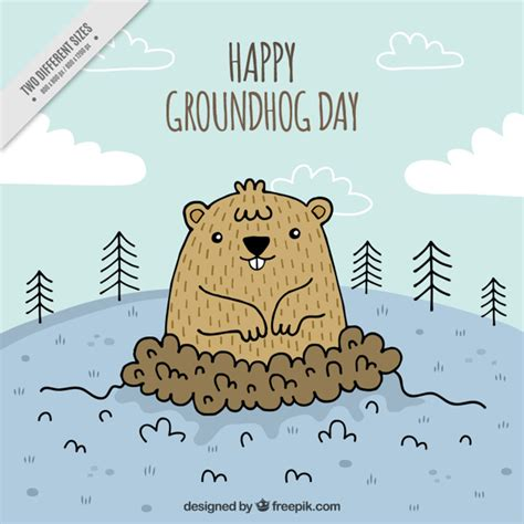 the groundhog day for free background for the groundhog day celebration