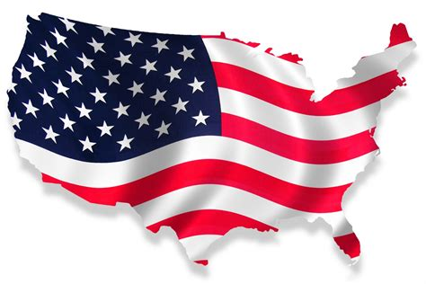 Us State Flag Outlines by Us Map With American Flag Usa Flag Map Thempfa Org